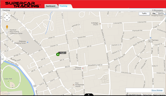 Track your car on a digital map
